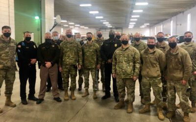 Defenders host familiarization visit for Lincoln law enforcement agencies